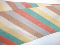 Beau Brummell Necktie Tie 4-Fold Palm Beach Goodall Worsted Schuster Vtg Stripes