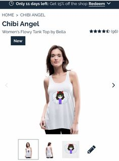 A logo for the little devil in all of us 😜. Chibi Girl, Devil, Angel, T Shirts For Women, Logo, Tank Tops, Cute, Shopping, Fashion