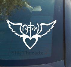 Not of This World Heart Wings Decal Sticker Christian   eBay $3.49 www.vinyldecaldepot.com