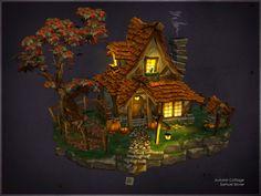 Autumn Cottage, Samuel Slover on ArtStation at http://www.artstation.com/artwork/autumn-cottage