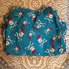 Skeleton Santa Sleep Shorts!  Super cute skeleton Santa sleep boxers. Comfy and in great condition! Received them as a stocking stuffer and haven't really worn them  no tears or stains. Old Navy Intimates & Sleepwear Pajamas