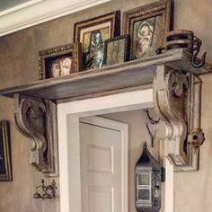 Old World Elegance with Distressed Over-Door Display