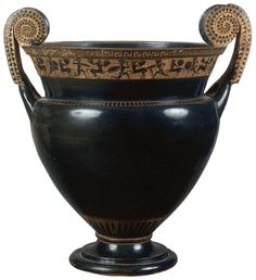 Centauromachia.  Black-figure crater. Attic.  Golvol Group. Clay. Ca. 520 B.C.  Height 42 cm, diameter of rim 33 cm, diameter of prop 17.7 cm.  Inv. No. Б. 1526.  Saint-Petersburg, The State Hermitage Museum.