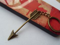 The archery brass keychain Pendant Jewelry-arrow