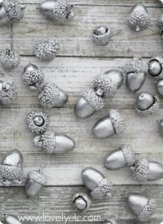 Paint them silver and it makes excellent xmas decor.. Put them in a vase with a candle in the center