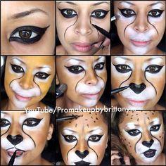 Halloween Tutorial: Cheetah Makeup with Motives!