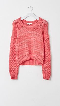 IRO Yola Cropped Sweater in Pink Red   The Dreslyn