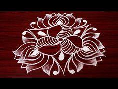 creative rangoli designs with 5x3 dots - simple kolam designs for beginners - easy muggulu designs - YouTube