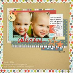 Hello, My Creative Scrapbook friends :) Today Becky Litz is sharing an embellishment-altering tutorial featuring our June Creative Kit ! Scrapbooking Layouts, Scrapbook Cards, Baby Boy Scrapbook, Photo Layouts, Paper Crafts, Card Crafts, Card Making, Cute, 2 Photos