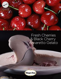 Click through for a chance to win a little taste of Italy. Black Cherry Amaretto, Pineapple Coconut, Cooking Recipes, Ice Cream, Treats, Snacks, Fresh, Cherries, Gelato