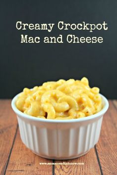 This easy crock pot mac and cheese recipe is easy, creamy, and won't ...