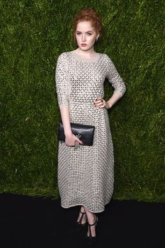 Actress Ellie Bamber attends the CHANEL Fine Jewelry Dinner in honor of Keira Knightley at The Jewel Box Bergdorf Goodman on September 6 2016 in New...
