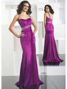 Chiffon One-shoulder Sweetheart Long Special Occasion Dress