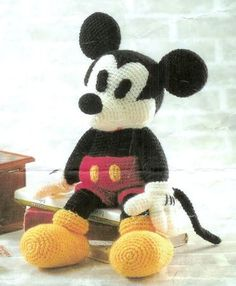 amigurumi pattern crochet mickey pdf pattern file