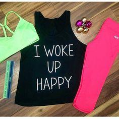 Wake up happy = workout happy!