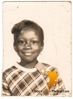 Vintage African American Photo Young Girl School Picture Old Black History…
