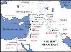 Map of Nineveh in the Ancient Near East
