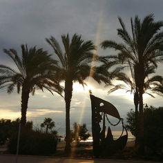 Magnífica foto de una mañana de verano en nuestras playas de Xilxes.