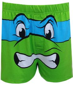 WebUndies.com Teenage Mutant Ninja Turtle Leonardo Boxer Shorts