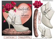 New Shoes Topper with Decoupage on Craftsuprint - Add To Basket!