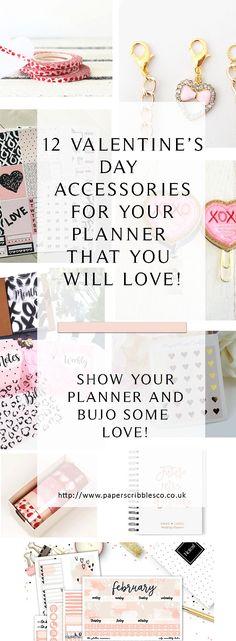 Planner Accessories | Valentine's Day | Valentines Planners | Gift Guide Valentines | Heart Accessories | Heart Stationery | Planner Goodies | Love Heart Planner Accessories | Girlfriend Gift Guide | Planner Addicts Gifts | February Planner Accessories