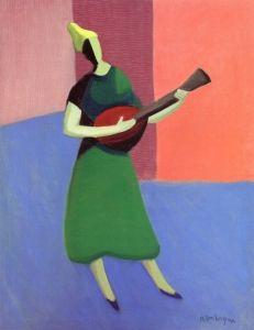 The Mandolin Player - Milton Avery - The Athenaeum