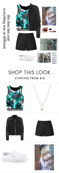 """""""Fire // Yoongi"""" by junhui ❤ liked on Polyvore featuring LC Lauren Conrad, Rick Owens, Ally Fashion, Vans, Børn, Fire, bts, Suga, bangtan and yoongi"""
