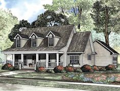Country House Plan with 2025 Square Feet and 3 Bedrooms from Dream Home Source | House Plan Code DHSW19092