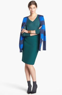 Halogen® Cardigan, V-Neck Sweater & Pencil Skirt  available at #Nordstrom