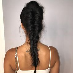 "41.5k Likes, 141 Comments - Draya Michele (@drayamichele) on Instagram: ""Perfectly flawed. #braid #fishtailbraid #fishtail #hairstyle #updo #ponytail"""