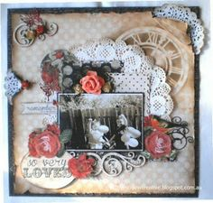 Hello everyone. Today I am sharing with you my projects that I have completed using the new Curiosity Collection from Kaisercraft. Heritage Scrapbooking, Scrapbooking Layouts, Vintage Scrapbook, My Scrapbook, Fun Crafts, Paper Crafts, Scrapbook Templates, Layout Inspiration, Altered Art