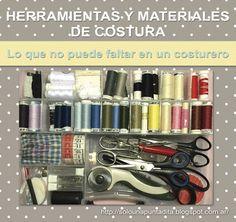 Todas las herramientas y materiales de costura que debe incluir un costurero.