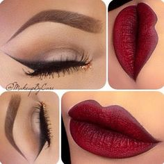 Smoked Out Liner and Bold Lip