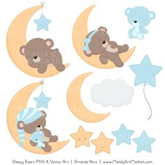 I dare you not to yawn will working with this Soft Blue Sleepy Bears clipart set. Baby Animal Drawings, Cute Cartoon Drawings, Pink Wallpaper Iphone, Bear Wallpaper, Crochet Apple, Teddy Bear Cartoon, Sleepy Bear, Bear Clipart, Bear Drawing