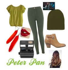 """""""Peter Pan"""" by cutedesigner1000 on Polyvore featuring DKNY, Miss Selfridge, M Missoni, GUESS, Impossible, Disney, women's clothing, women, female and woman"""