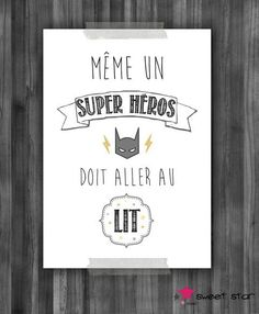 Poster for child s room quot;even a superhero quot; composition of 3 posters for child s room Baby Bedroom, Baby Boy Rooms, Kids Bedroom, Deco Kids, Baby Accessoires, Kidsroom, Interior Design Living Room, Home Deco, Diy For Kids