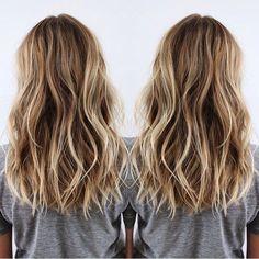 Layered-Medium-Hairstyles-Brown-and-Blonde-Balayage