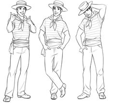 Man in a sailor suit character sketch, by Disney City Girl on Behance.