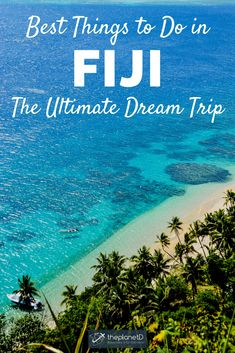 Fiji is a tropical paradise fit for adventure lovers and honeymooners alike. These are the best things to do in Fiji to suit everyone's needs Cool Places To Visit, Places To Travel, Travel Destinations, Travel Things, Fiji Travel, Beach Travel, Beach Trip, Beach Vacations, Tropical Vacations