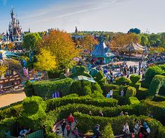 """When Disney's first European theme park opened in 1992, many French protested the """"cultural imperialism"""" of such an American symbol opening 40 minutes outside of Paris. Today it's one of the most-visited locations in Europe. So be prepared to queue for popular rides like It's a Small World, Space Mountain, Big Thunder Mountain, Pirates of the Caribbean, and Buzz Lightyear Laser Blast. A 3D ride inspired by the film Ratatouille opened in 2014; enter through a replica of Gusteau's restaurant."""