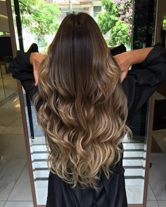 Balayage Likely you currently know that the head of hair beauty shop can produced a Best Ombre Hair, Brown Ombre Hair, Ombre Hair Color, Balliage Hair, Wavy Hair, Dyed Hair, Long Brunette Hair, Blonde Hair, Ombre Highlights