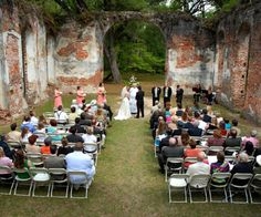 Wedding in church ruins burned down in the civil war. How historically awesome is that!!