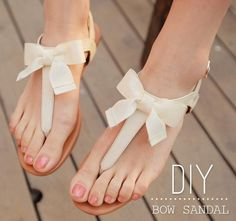DIY Bow Sandal