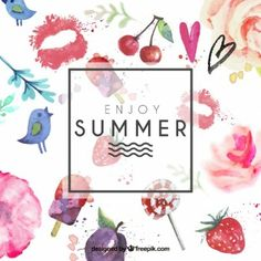 Hand painted summer card