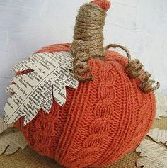 easy sweater pumpkins made with dollar tree faux pumpkins and a sweater from, crafts, decoupage, repurposing upcycling, Easy sweater pumpkins fun and inexpensive to make