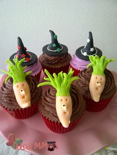 witch cupcakes, brujas