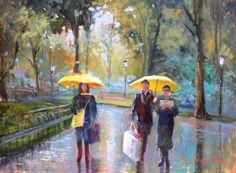 Chuva! yellow umbrellas