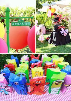 Playful & Girly Sesame Street Themed Birthday Party