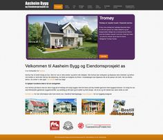 """Are you dreaming about a new home? There are a plethora of vendors to choose from. Take a look at the new website of """"Aasheim Bygg og Eiendomsprosjekt"""" which we have just developed them Mobile Responsive, Web Design Inspiration, Web Development, New Homes, Website, Binder, New Home Essentials"""