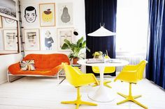 Friday definitely calls for colour. I've shown other images of this fab home  before and now new pictures have emerged in the wonderful A...